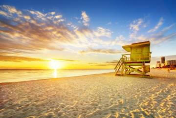 Miami South Beach at sunrise