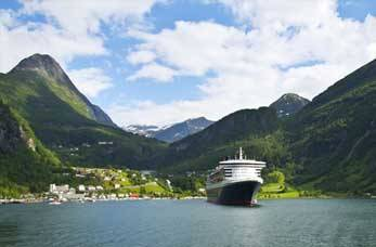 Cruise ship visiting Norway