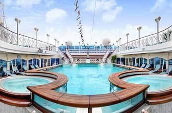 Sun Deck onboard Princess Cruise Ship