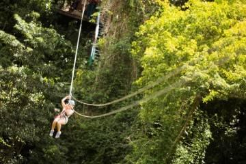 Zip lining in Antigua