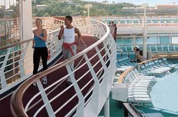 Joggers on a cruise ship