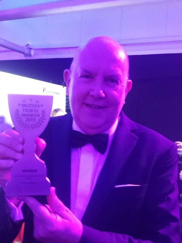 Our Director Steve Boardman was at the British Travel Awards to accept our win!