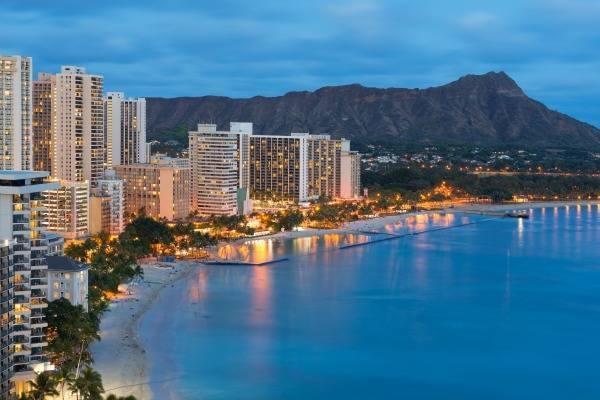 Honolulu at dusk