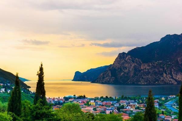 Lake Garda at sunset