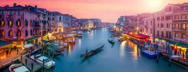 Grand Canal of Venice at dusk