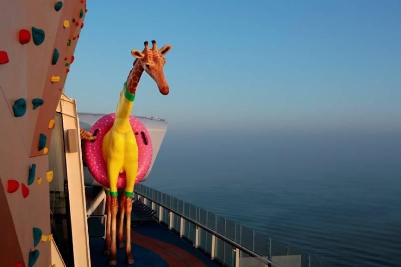 Royal Caribbean's Gigi the Giraffe