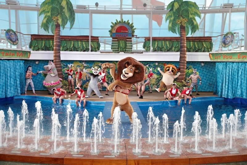 Alex the Lion onboard Anthem of the Seas