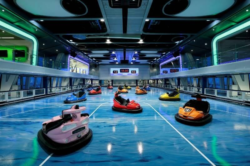 Bumper cars onboard Anthem of the Seas