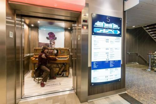The Stowaway Piano Player onboard Anthem of the Seas