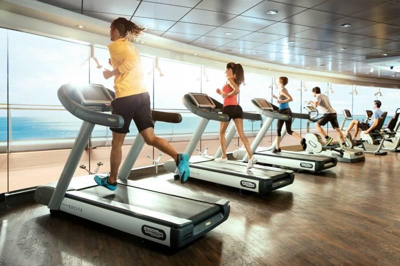 Gym equipment on MSC cruise