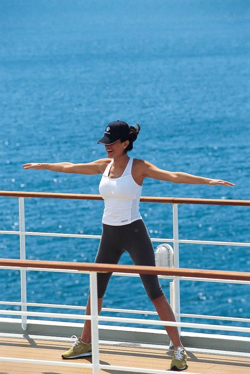 Fitness class on MSC Cruise