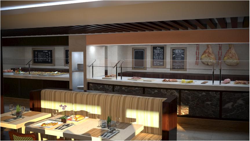 Buffet Restaurant on MSC Meraviglia