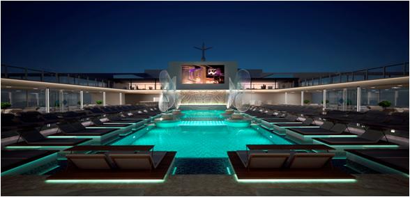 Main Pool Night