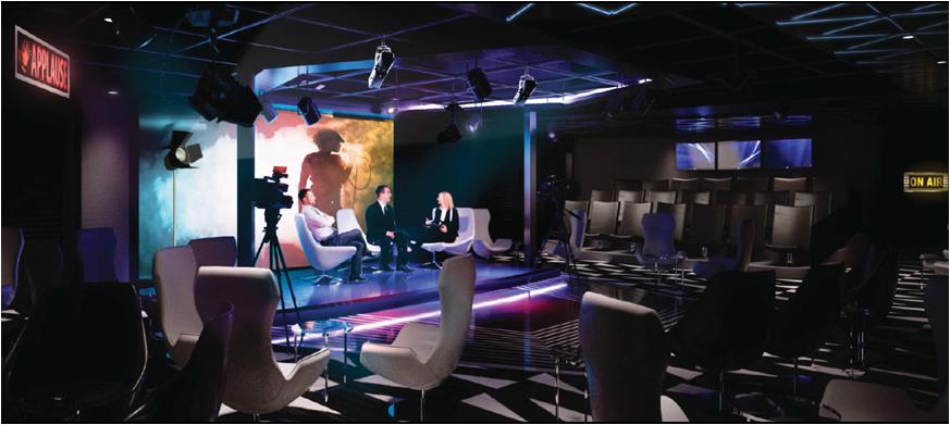 TV Studio on MSC Meraviglia