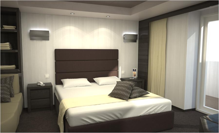 Yacht Club Suite Bedroom on MSC Meraviglia
