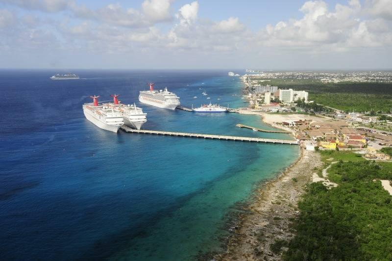 Carnival cruise ships in Puerta Maya Mexico