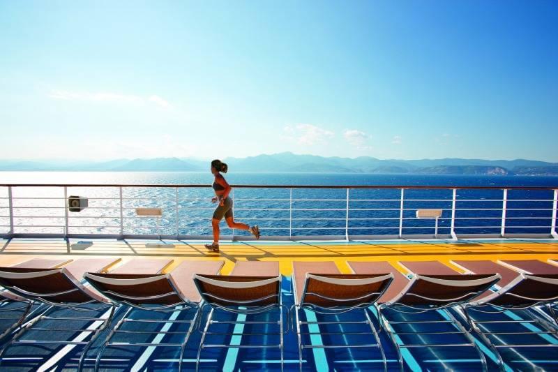 Running on Costa Cruise Ship