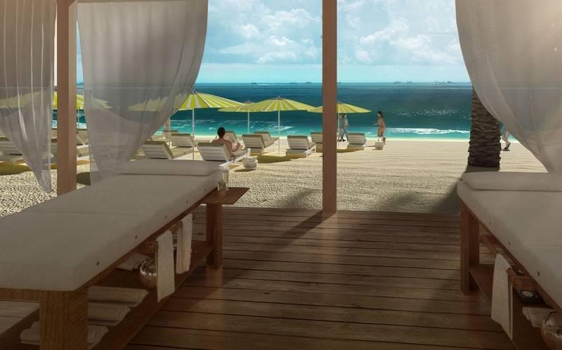 United Arab Emirates, Sir Bani Yas Island Beach Resort - MSC Yacht Club cabanas