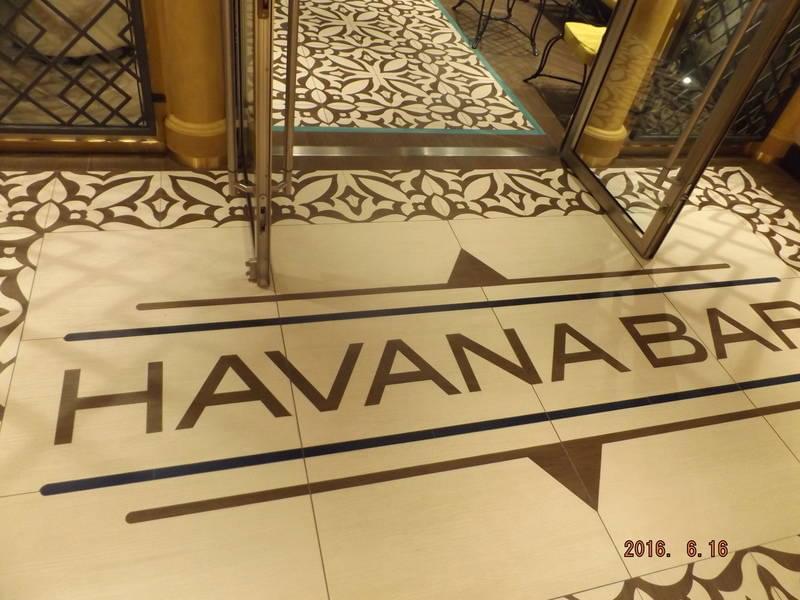 Havana Bar on the Carnival Vista