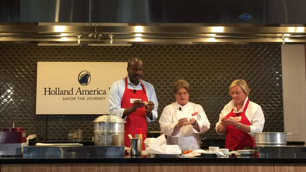 America's Test Kitchen onboard Holland America cruise ship