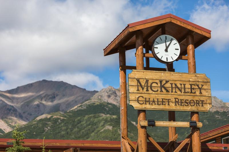 The Clock Tower at Holland America's Alaska resort
