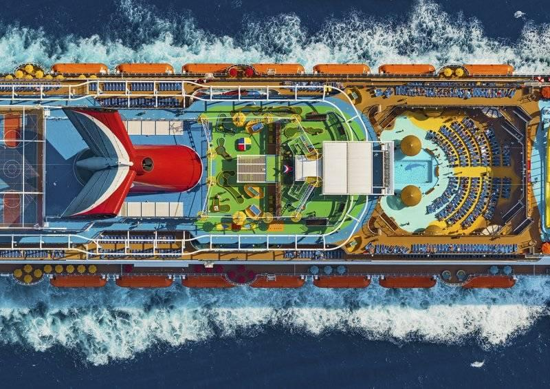 Carnival Cruise Ship from Above