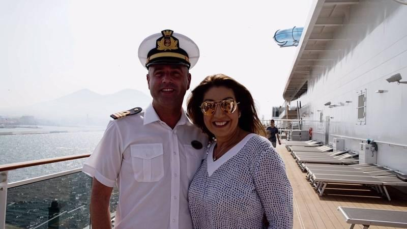 Jane McDonald cruises on the MSC Meraviglia