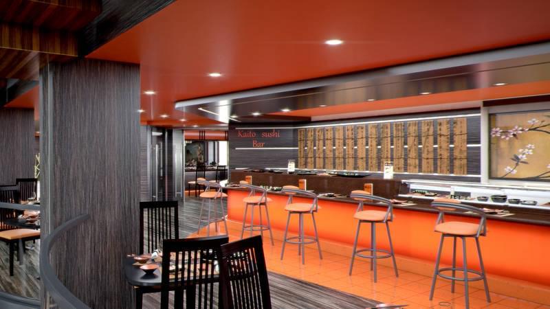 Kaito Sushi Bar on MSC Meraviglia
