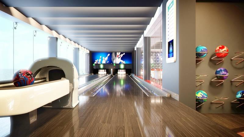 MSC Meraviglia Bowling Alley