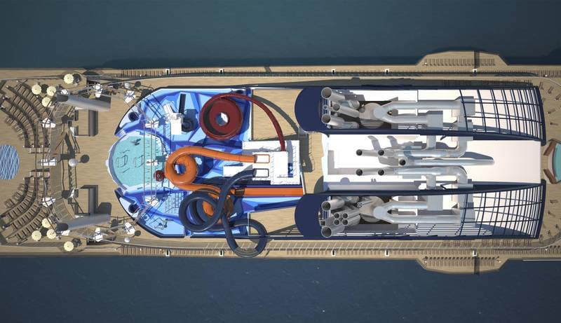 MSC Meraviglia from above