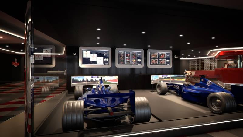 F1 Simulators on the MSC Meraviglia