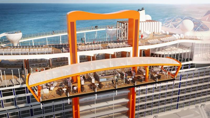 Magic Carpet moving bar on Celebrity Edge