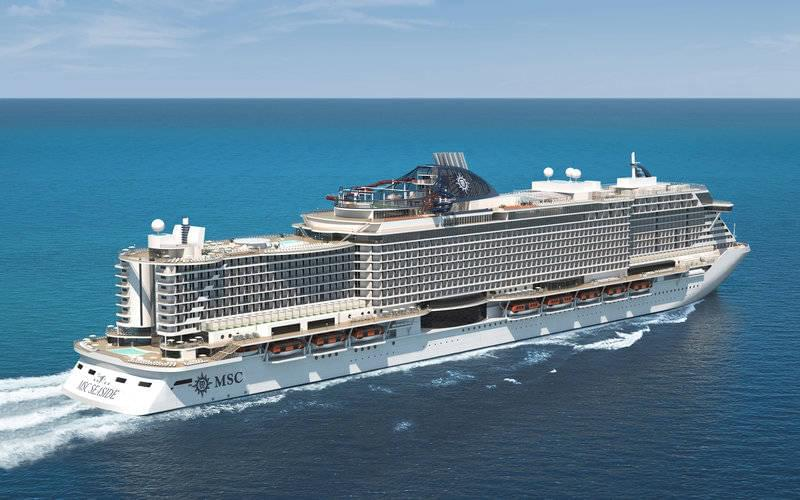 MSC Seaside cruise ship rendering