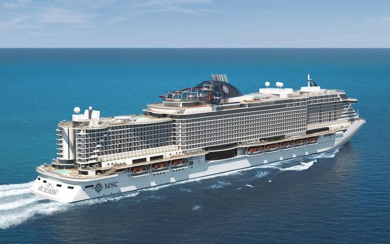 MSC Seaside cruise ship rendering