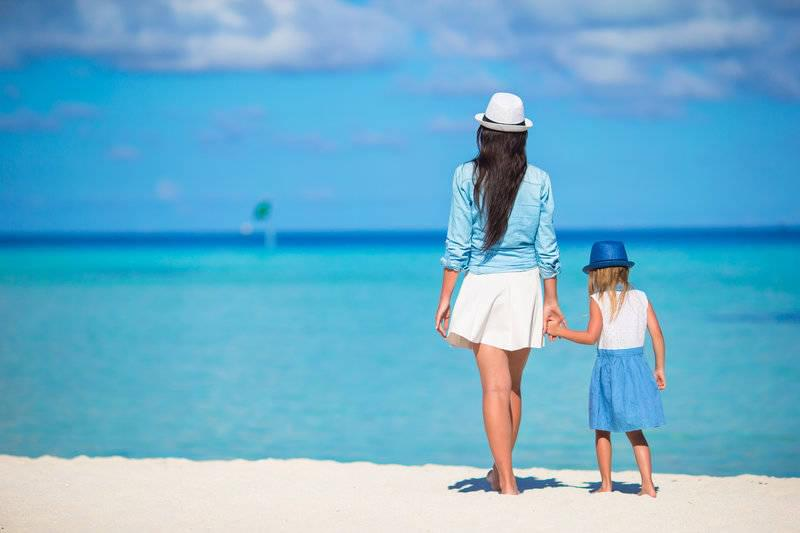 Mother and Daughter on Holiday