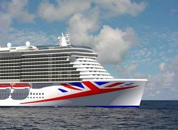 Rendering of new P&O Cruise Ship